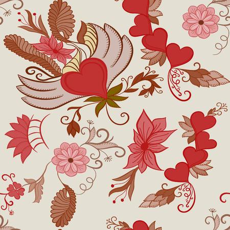 affiance: Valentines Day seamless background. Eternal love idea. vector.EPS 10