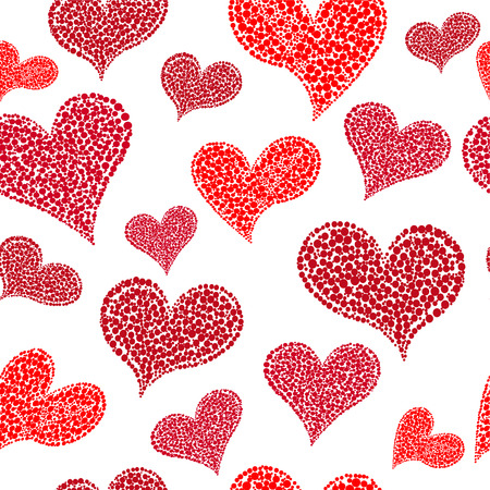 affiance: Valentines Day seamless background with hearts .vector.EPS 10