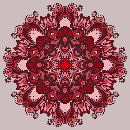 oriental vector: Vector mandala. Abstract calligraphic element for your design, lace ornament. Round pattern in oriental style. EPS 10