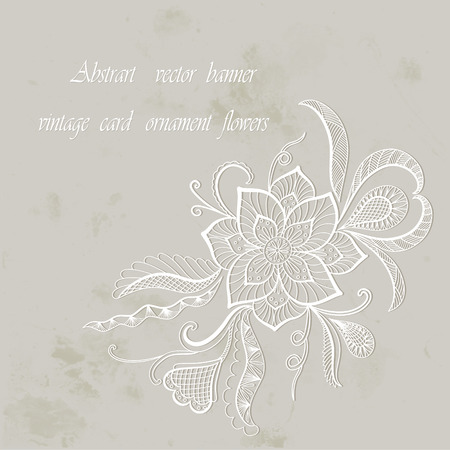 grubby: Vintage background flowers. Vector abstract invitation card. EPS 10