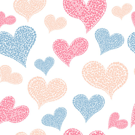 affiance: Valentines Day seamless background with hearts