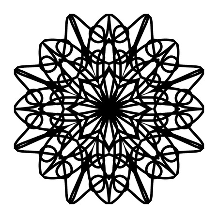 Vector mandala. Abstract calligraphic element for your design, lace ornament. Round pattern in oriental style.