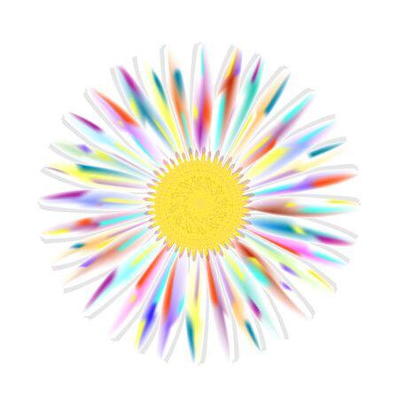 Beautiful chamomile flower isolated. Иллюстрация