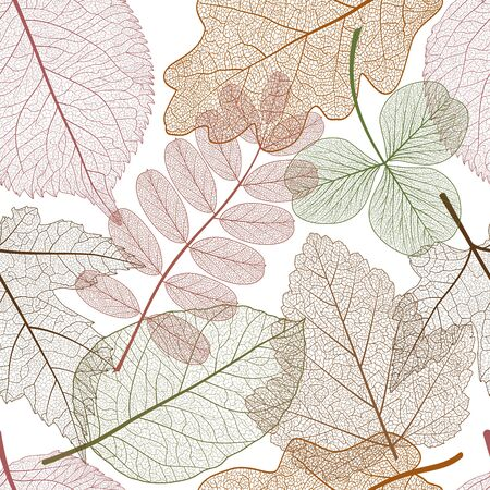 Seamless pattern with leaves. Çizim