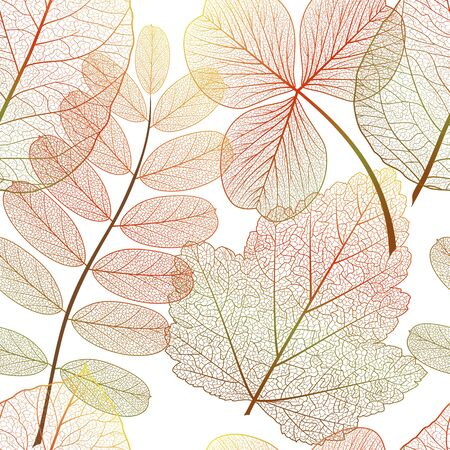 Seamless pattern with leaves. Stok Fotoğraf - 148959324