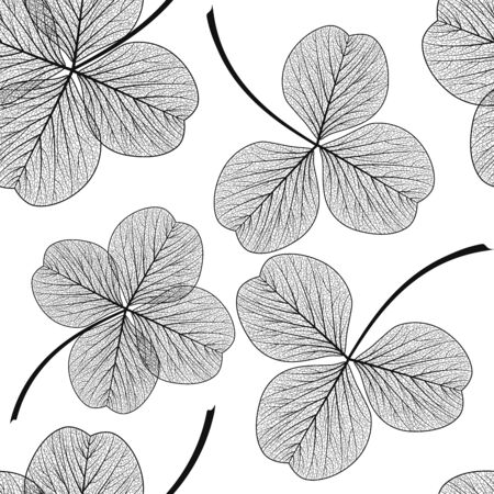 Seamless pattern with leaves. Ilustrace