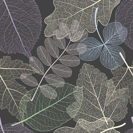 Seamless pattern with leaves. Иллюстрация