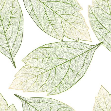 Seamless pattern with leaves. Stok Fotoğraf - 148959475