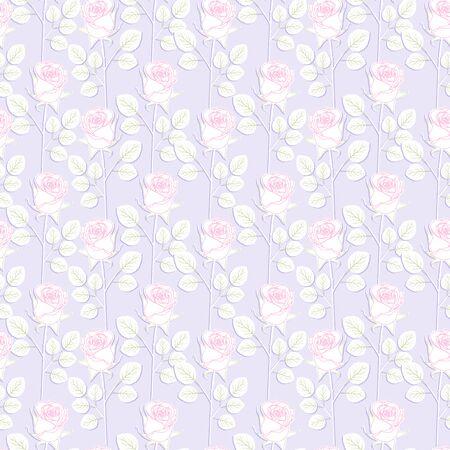 Beautiful seamless pattern with flowers Rose. Stok Fotoğraf - 148959479