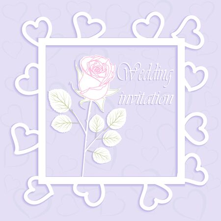 Beautiful background with Rose flower with a place for text. Çizim