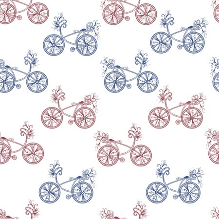Seamless pattern with vintage bicycle. Stok Fotoğraf - 148959485