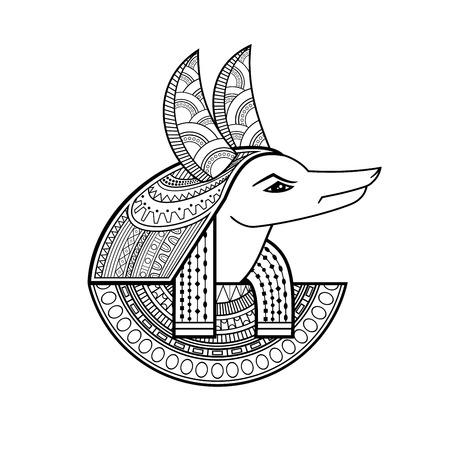 God of ancient Egypt Vector illustration. Foto de archivo - 97495394
