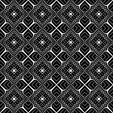 Vector Ink Tribal Pattern. Aztec Seamless Background Illustration