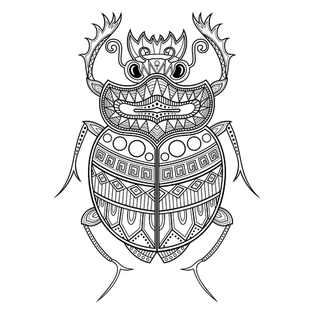 Vector Scarab Beetle. Ancient Egypt Ilustrace