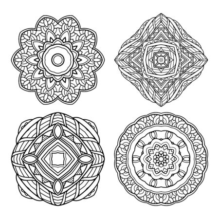 Vector Set of Design Elements. Patterned objects