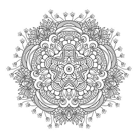 Stella monocromatica vettoriale. Elemento decorativo etnico. Oggetto Astratto Isolato Su Sfondo Bianco Vettoriali