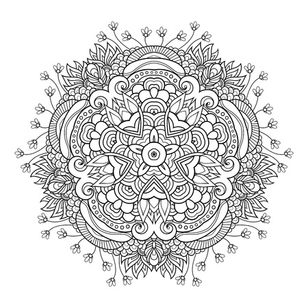 Vektor Monochromer Stern. Ethnisches dekoratives Element. Abstraktes Objekt isoliert auf weißem Hintergrund Vektorgrafik