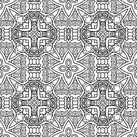 Vektor-monochromes abstraktes Muster. Dekorativer nahtloser Hintergrund. Zum Färben Vektorgrafik