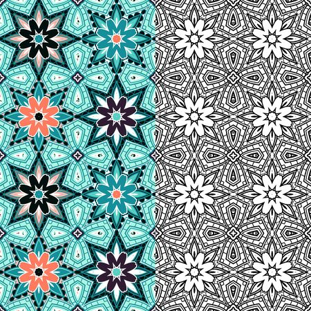 Vector Abstract Simple Pattern In Color. Decorative Seamless Background