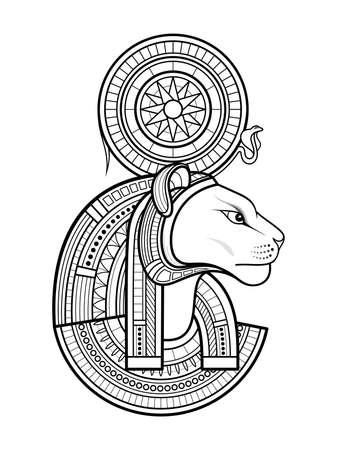 Vector God of Ancient Egypt. Sekhmet 版權商用圖片 - 167161148