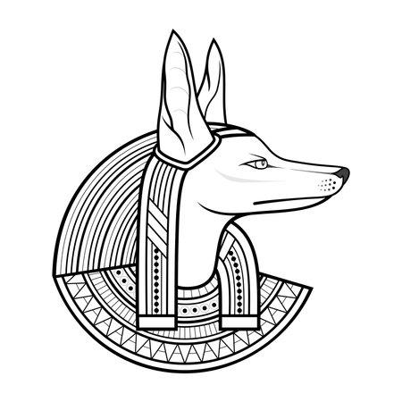 Vector God of Ancient Egypt. Anubis