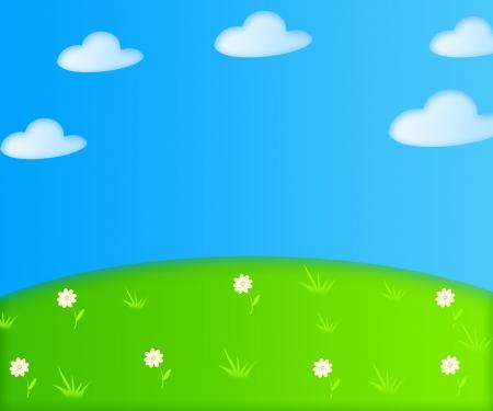 Le dessin illustration de fond d'été