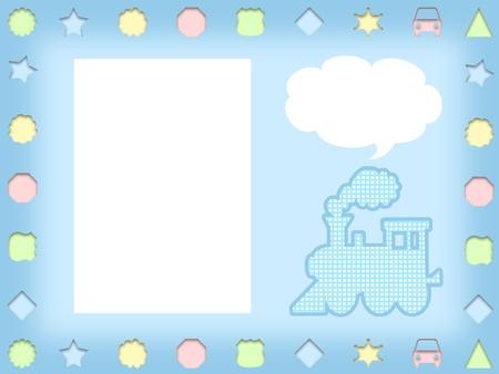 cartoon frame: illustrazione di bambini divertenti s telaio cartone animato