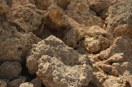 geology: The rocky coast in Egypt. African geology and materials