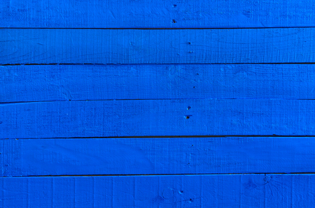painted old wooden surface, blue saturated color, wood texture, wooden background Standard-Bild - 95321113