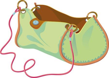 handbags: empty handbag on the strap in expanded form