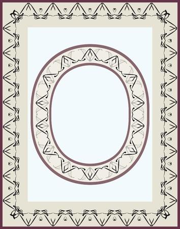 oval shape: elements for designing, creating borders. Oval Shape Illustration