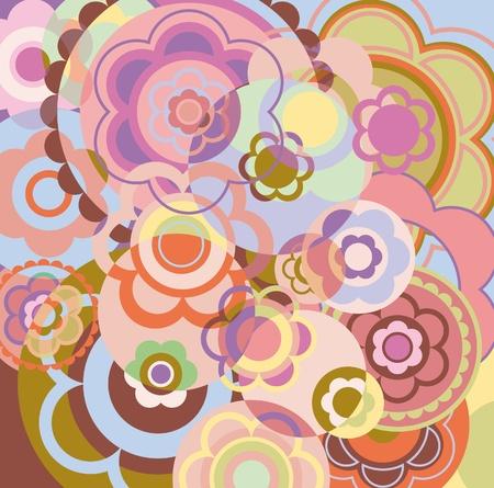 green carpet: decorative floral background. reception overlay color Illustration