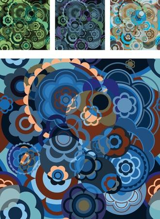 pastiche: seamless pattern. decoration on a stylized flower