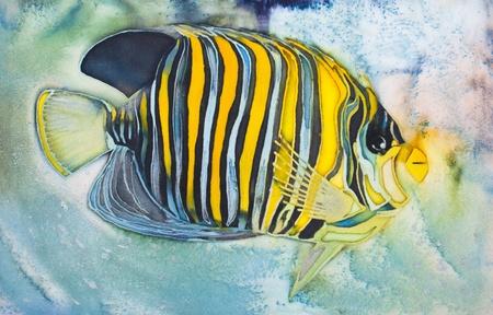 batik. The underwater world, fish