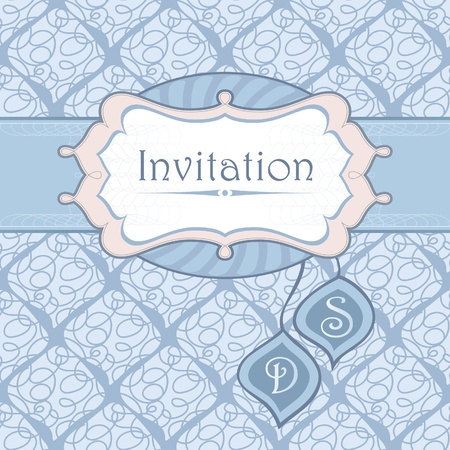 frame for an invitation to the background seamless pattern. Stock Vector - 10614715