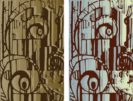 Hand-drawn background texture. Abstract cityscape Vector