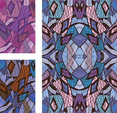seamless pattern of rectangular shape. options for the composition