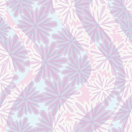 seamless background from winter snowflakes and waves. Frosty pattern. Stock Vector - 10763624