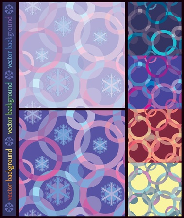 seamless inlay of the circles and snowflakes.