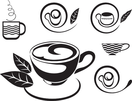 broth: A cup of tea. Sign  Illustration
