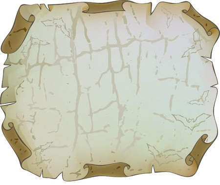 Sheet of old paper. Battered and cracked. Background for the stacks of cards. Stock Vector - 11005601