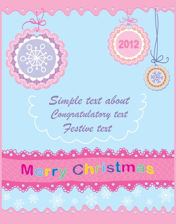 greeting card. New Year Vector
