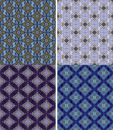 graphically: Options for seamless ornamental pattern. Illustration