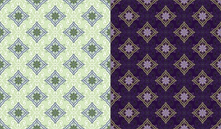 Two ornamental seamless background. Vector
