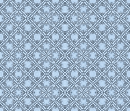 Seamless pattern in gray and blue tones. Classic replay. Illustration