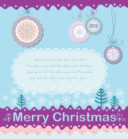 Festive Christmas background  Stock Vector - 11212523