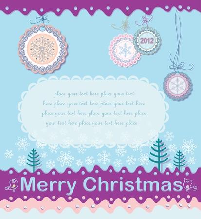 Festive Christmas background Stock Vector - 11212523