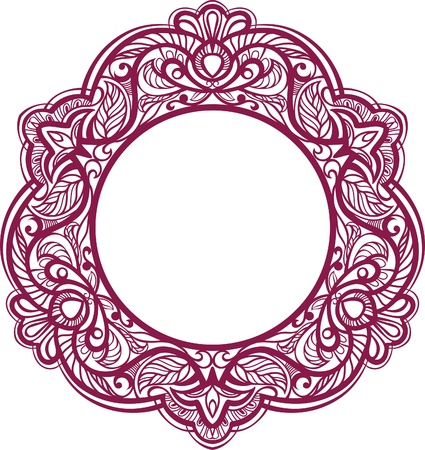 serviette: Decorative frame. Vintage ornamental element. vector