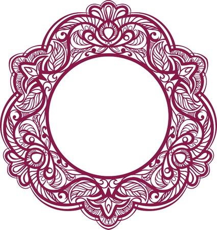 serviette: Marco decorativo. Elemento ornamental de la vendimia. vector Vectores