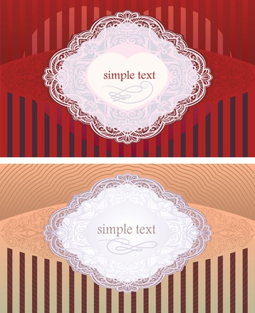 design options for invitations for the wedding and the day of lovers. Illustration